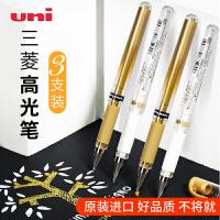 现货三菱高光笔um153高光白笔1.0mm手绘金银白色签字笔油漆笔中性笔金色婚礼签名笔水彩颜料0.8留白笔uniball