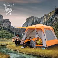 帐篷户外家庭厚款双人多人野外露营二室一厅5人-8人-12人