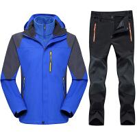 冲锋衣男女三合一两件套衣裤套装登山服