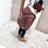 男童羽绒棉衣宝宝冬装棉袄韩版加厚外套儿童面包服潮