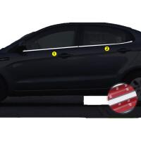 起亚新K2 K3 K5 18福瑞迪专用不锈钢车窗亮条饰条 门边亮条改装饰