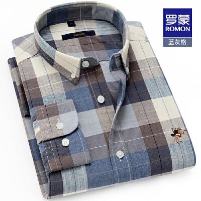 长袖衬衫男2020春季新款格子纯棉衬衣中青年时尚休闲修身衬衫 此新款4月中旬发货,注意购买!
