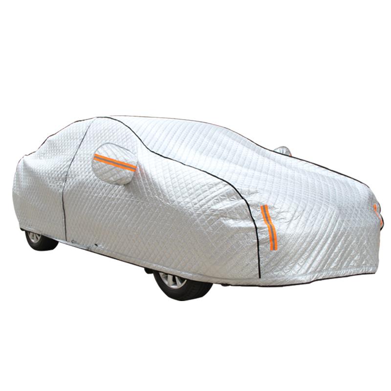 丰田凯美瑞卡罗拉花冠朗逸防晒防雨隔热汽车衣车罩拉杆半自动外套