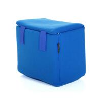 微单单反相机内胆包双肩包厚摄影包内胆可放休闲包双肩背中 S号有盖蓝色