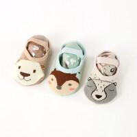 3双0-12个月春秋冬男女宝宝新生婴儿童地板鞋袜子松口防滑底