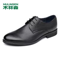 木林森男鞋 男士头层牛皮系带商务正装皮鞋 053777120