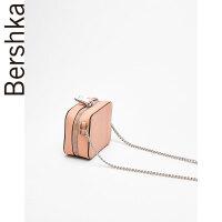 女士 链条饰迷你单肩包 04606862902SN8276 粉红色M (M)