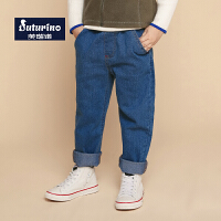 【3件1.5折】芙瑞诺童装男童秋装2019秋冬新品牛仔裤长裤裤子