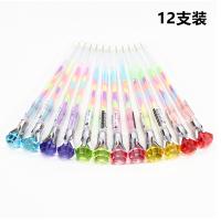 钻石彩笔六色合一水粉笔彩色记号笔韩国创意涂鸦粉彩荧光笔学生用