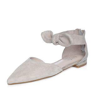 BASTO/百思图2018春季专柜同款羊绒皮甜美蝴蝶结尖头女凉鞋RIO02AK8
