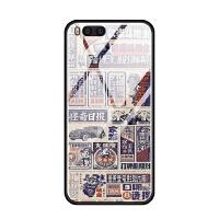 小米note3 6 5 5x 5s plus蓝光玻璃手机壳硅胶复古报纸涂鸦趣味