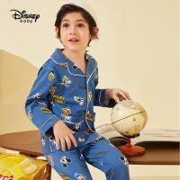 【春新品4折�A估�r:80.8元】迪士尼童�b男童�r尚睡衣套�b春秋�和�������家居服�杉�套
