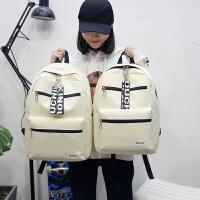 书包女韩版潮原宿高中学生校园风双肩包飘带百搭旅行背包
