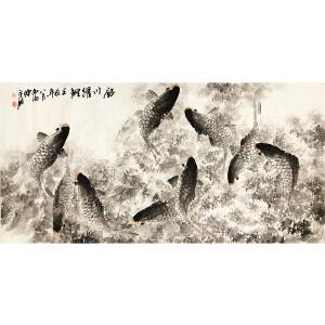 陈永锵《银川耀鲤》广东美协主席