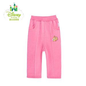 迪士尼Disney婴儿衣服新生儿外出裤子男女宝宝加绒长裤 153K679