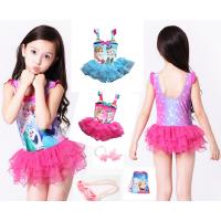 儿童泳衣冰雪奇缘女童裙式中大童游泳衣公主艾莎女孩泳装衣