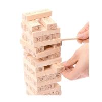 叠叠高积木叠叠乐玩具大号60根儿童层层叠抽抽乐桌面游戏