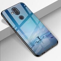 诺基亚X7玻璃手机壳2018版Nokia保护套TA-1131镜面卡通全包边防摔