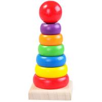 乐木木制彩虹塔 宝宝叠叠乐层层叠套塔套圈积木 儿童早教益智玩具 基础认知 锻炼宝宝的逻辑思维