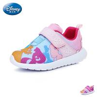 迪士尼(Disney)童鞋18新款儿童运动鞋时尚印花女童公主鞋防滑耐磨女生户外休闲鞋 (5-10岁可选) DS2760