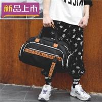 2018旅行包女手提包大容量男字母时尚行李袋短途韩版单肩健身包出差潮 大
