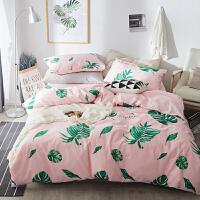 ins网红四件套简约1.8m2.0双人床单被套床上用品床笠1.2m