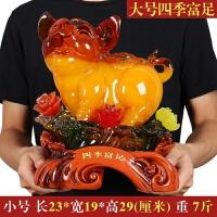 十二生肖福猪摆件工艺品办公室内桌上房间家居装饰品玉猪摆设