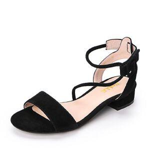 Belle/百丽2018夏季新款专柜同款羊绒皮革女凉鞋S3Y1DBL8