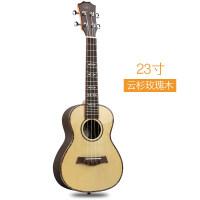 毕维斯尤克里里23寸乌克丽丽小吉他ukulele学生乐器 亮光序列a113 23寸云杉玫瑰木亮光+豪华