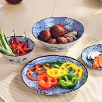 Mino Yaki 美浓烧 日本进口陶瓷餐具 碗盘碟套装 家用和风花祥瑞多件套