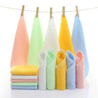 10条装竹纤维小方巾婴竹炭四方小毛巾洗脸澡面巾 25x25cm