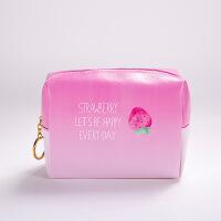 草莓乐园 化妆包 创意韩国款唯美P防水多功能大容量收纳包