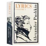 普希金诗选 英文原版书 Lyrics 俄英双语对照 俄罗斯文学之父 假如生活欺骗了你作者 普希金 英文版经典世界名著外
