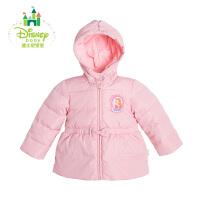 【清仓价:93】迪士尼Disney童装女童羽绒服秋冬保暖加厚女宝宝外出棉衣164S852