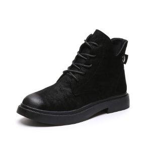 WARORWAR新品YM159-E362-1秋冬休闲平底舒适女士靴子短靴