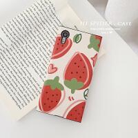 草莓橙子创意苹果手机壳iphonexs max全包软壳xr/6/7plus女小清新 6/6s 草莓