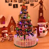 圣诞节装饰品 圣诞树1.5米豪华加密家用圣诞树套餐发光场景布置
