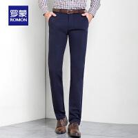 罗蒙西裤男免烫商务工装裤男士休闲裤秋冬修身直筒长裤子