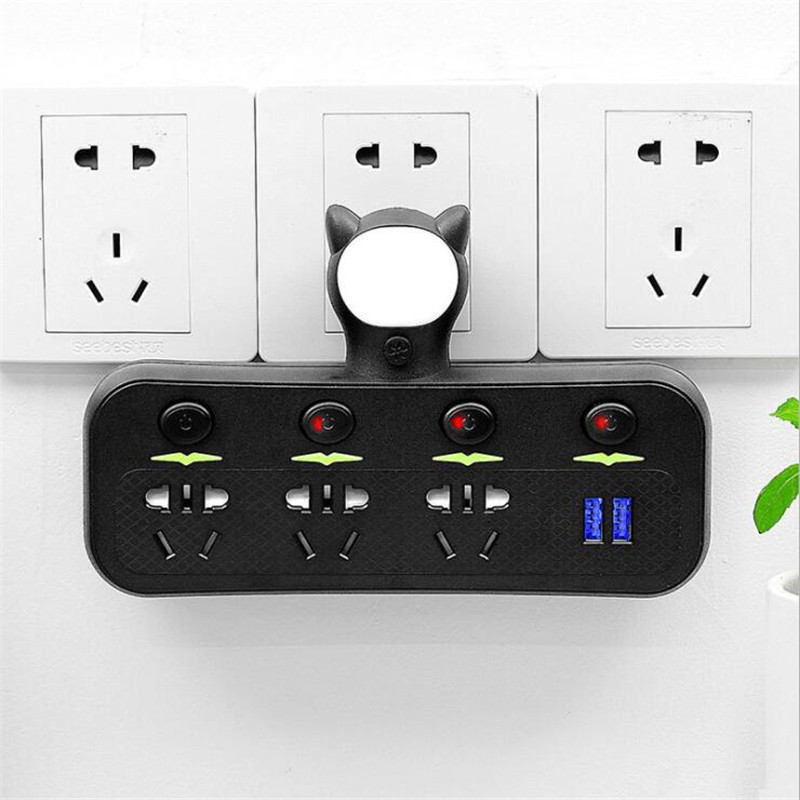 智能USB安全门转换器墙壁转换插座 6ps 默认发白色。需要黑色拍下备注