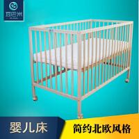 期移动婴儿床实木无漆可调节儿童床好宝宝孩子 +5CM垫+三件套