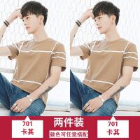 男短袖t恤潮流2018新款夏季圆领韩版五分半袖宽松男士体恤Q