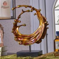 家居抽象海洋工艺品摆件欧式酒柜客厅装饰品开业礼品软装海浪摆设