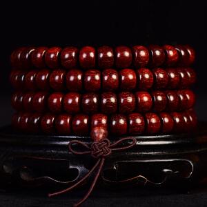 小叶紫檀苹果珠手链7x9mm  35克