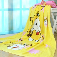 卡通动漫幼儿儿童毛巾被毛巾毯盖毯空调被宝宝 全棉纯棉 100cm*120cm
