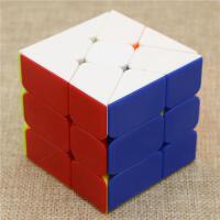 ?玩具顺滑盲拧新款风火轮魔方异形魔方三阶玩具实色不贴纸? 泛新风火轮红 实色