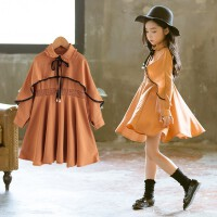 女童连衣裙秋装中大童韩版时尚长袖公主裙儿童洋气裙子潮