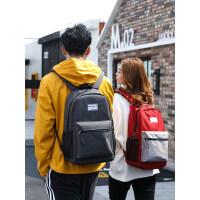 艾奔双肩包大学生电脑背包时尚学院风旅行包潮流初中高中学生书包