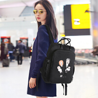 BVIP妈咪包双肩背包包女2018新款多功能大容量妈妈母婴包宝妈外出 黑色【同款】