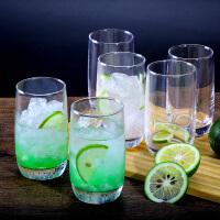 透明直升玻璃杯水杯耐热果汁杯茶杯家用奶杯子280ml6只装81