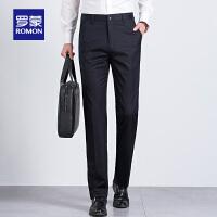 Romon/罗蒙休闲裤男士春季商务工装裤子中青年修身西裤男士直筒裤